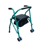 [US Warehouse] Aluminum Tube Walker with Seat Cushion (Green)