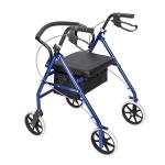 [US Warehouse] Steel Nylon Walker with Wheels (Black Blue)