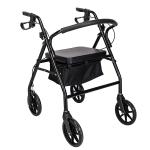 [US Warehouse] Steel Nylon Walker with Wheels (Black)