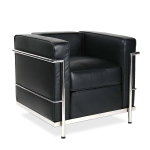 [UK Warehouse] SF201A Stainless Steel Frame PU Leather Sofa Living Room Lounge Sofa Single Sofa