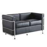 [UK Warehouse] SF202A Stainless Steel Frame PU Leather Sofa Living Room Lounge Sofa Double Sofa