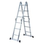[US Warehouse] 12.2ft Household Multifunctional Aluminum Alloy Small Joint Foldable Telescopic Ladder 12-step Unloading Ladder