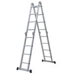 [US Warehouse] 15.5ft Household Multifunctional Aluminum Alloy Small Joint Foldable Telescopic Ladder 16-step Unloading Ladder