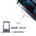 SIM Card Tray + SIM Card Tray + Side Keys for iPhone 12 Pro Max (Blue)