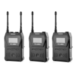 YELANGU YLG9929B MX4 Dual-Channel 100CH UHF Wireless Microphone System with 2 Transmitters and Receiver for DSLR Cameras and Video Cameras(Black)