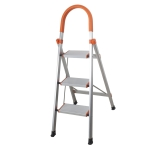 [US Warehouse] Aluminum Foldable Multi-purpose Non-slip 3-step D-shape Unloading Ladder Work Platform Scaffold