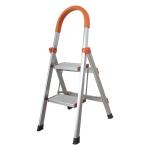 [US Warehouse] Aluminum Foldable Multi-purpose Non-slip 2-step D-shape Unloading Ladder Work Platform Scaffold