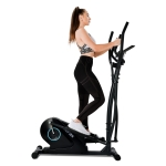[EU Warehouse] Merax Home Cross Elliptical Trainer with LCD Display & Equipment Stand(Black Blue)