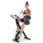 [EU Warehouse] Merax Foldable Bike for Indoor Training with LCD Screen& Adjustable Resistance Bands (Black)
