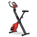 [EU Warehouse] Merax Magnetic Foldable Exercise Bike with Padded Seat & LCD Console (Red)