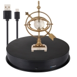 PULUZ 30cm Adjusting Speed USB Electric Rotating Turntable Display Stand Video Shooting Props Turntable for Photography, Load 10-20kg(Black)