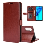 For Huawei Mate 40 lite/Maimang 9 R64 Texture Single Horizontal Flip Protective Case with Holder & Card Slots & Wallet& Photo Frame(Brown)
