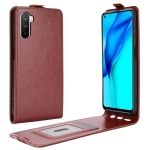 For Huawei Mate 40 lite/Maimang 9 R64 Texture Single Vertical Flip Leather Protective Case with Card Slots & Photo Frame(Brown)