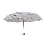 Automatic Retro British Newspaper Umbrella Vinyl Sunscreen Folding Umbrella, Style:Manual(White)
