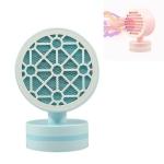 Home Desktop Mini Speedy Portable Heater CN Plug, Style:Grid(Sky Blue)