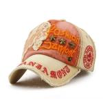 Jamont 9909 Sun Hat Star Shape Rivet Casual Letters Baseball Cap Outdoor Peaked Cap, Size:One Size(Khaki)
