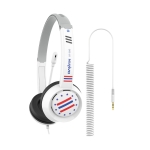 DANYIN DT326 Head-mounted Desktop Computer Children Learning Wire Headset with Microphone, Cable Length:1.8m, Style:Star Flag(White)