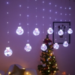 LED Copper Wire Curtain Light Wishing Ball Christmas Decoration String Lights, Random Style Delivery, Plug Type:US Plug(White Light)