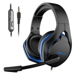 XIBERIA V22 Wired USB Computer Mobile Game Headset With Microphone, Cable Length:2.2m, Style:Mobile Version(Black Blue)