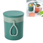 Stainless Steel Soup Cup Heat Preservation Sealing Leak-Proof Multifunctional Portable Student Lunch Box(Green)