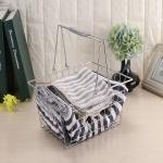 Iron Art Spring Hand Basket Basket Household Bath Laundry Basket Kitchen Basket, Size:Small: 23x17x13 cm