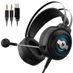 NUBWO N1PRO Computer Gaming Headset, Cable Length:2.4m
