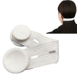 4 PCS Mask Hook Adjustment Buckle Ear-Wearing Mask Anti-Squeeze Ear Lanyard Extending Ear Rope(White)