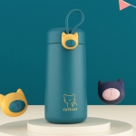 Cute Cat Style Portable Thermos Cup Mini Pocket Water Cup(Turquoise Green)