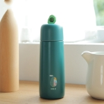 Fruit Style Student Portable Cute Large Capacity Stainless Steel Vacuum Flask(Green)