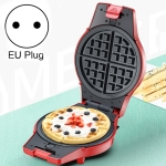 3-in-1 Multi-Function Eleictric Baking Pan Breakfast Maker Donut Sandwich Waffle Maker Pizza Maker, EU Plug