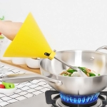 2 PCS Kitchen Tool Cooking Oil Splash And Scald Guard, Style:Shovel Version(Yellow)