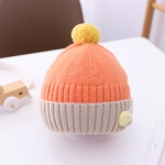 Cartoon 3D Little Bee Baby Knitted Hat Baby Autumn And Winter Woolen Hat, Size: Suitable for Children About 1-4 Years Old(Orange)