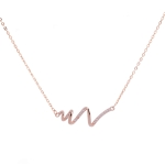 S925 Sterling Silver Necklace Women ECG Accessory Necklace(Rose Gold)