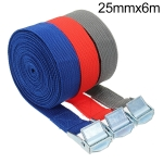 Car Tension Rope Luggage Strap Belt Auto Car Boat Fixed Strap with Alloy Buckle,Random Color Delivery, Size: 25mm x 6m