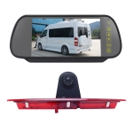 PZ466 Car Waterproof 170 Degree Brake Light View Camera + 7 inch Rearview Monitor for Ford Transit 2014-2015