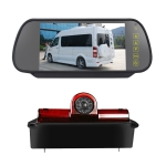 PZ467 Car Waterproof 170 Degree Brake Light View Camera + 7 inch Rearview Monitor for Chevrolet