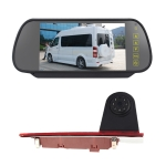 PZ477 Car Waterproof 170 Degree Brake Light View Camera + 7 inch Rearview Monitor for Ford Transit Custom