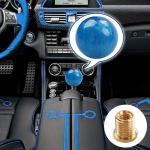 Car Manual Shifter Gear Shift Knob with Adapter M8 x 1.25 (Blue)