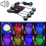 Universal Car  LED Atmosphere Lights Emergency Foot Light Voice Control Version