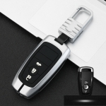 Car Luminous All-inclusive Zinc Alloy Key Protective Case Key Shell for Ford G Style Smart 3-button (Silver)