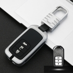 Car Luminous All-inclusive Zinc Alloy Key Protective Case Key Shell for Honda A Style Smart 3-button (Silver)