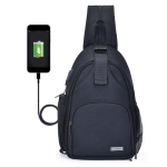 CADeN D17-2 Multifunction Nylon Shockproof Scratch-Resistant Messenger Single / Shoulders Bag Backpack Outdoor SLR Camera Photography Backpack Bag with USB Port & Zipper Front Bag(Black)