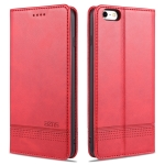 AZNS Magnetic Calf Texture Horizontal Flip Leather Case with Card Slots & Holder & Wallet For iPhone 6 Plus(Red)