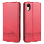 AZNS Magnetic Calf Texture Horizontal Flip Leather Case with Card Slots & Holder & Wallet For iPhone XR(Red)