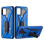 For vivo V20 Shockproof TPU + PC Protective Case with Holder(Blue)