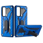 For vivo V20 SE Shockproof TPU + PC Protective Case with Holder(Blue)