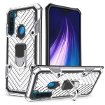 For Xiaomi Redmi Note 8 Cool Armor PC + TPU Shockproof Case with 360 Degree Rotation Ring Holder(Silver)