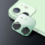 USAMS US-BH706 One-piece Metal Frame Rear Camera Lens Tempered Glass Film For iPhone 12 mini(Green)