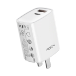 ROCK T42 PD 20W Dual Ports Travel Charger Power Adapter, CN Plug(White)