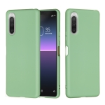 For Sony Xperia 5 II Pure Color Liquid Silicone Shockproof Full Coverage Case(Green)